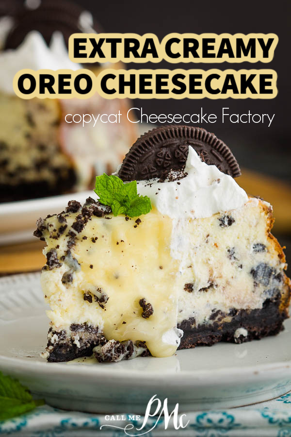 Cheesecake Factory Oreo Cheesecake recipe combines a perpetually favorite cookie and an elegant cheesecake into one sumptuous dessert!