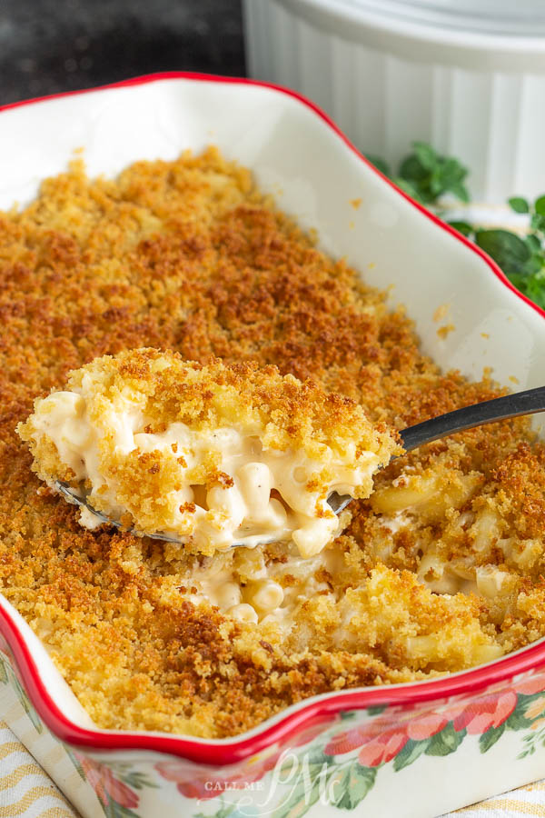 Mac and Cheese No roux No flour, this comfort food classic is easy to make yet it's rich, creamy, cheesy, and decadent. It's topped off with buttery panko bread crumbs.