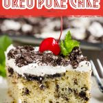 Oreo Poke Cake with Sweetened Condensed Milk, aka Cookies and Cream Cake, is an easy and quick dessert that is luxuriously moist and decadent.