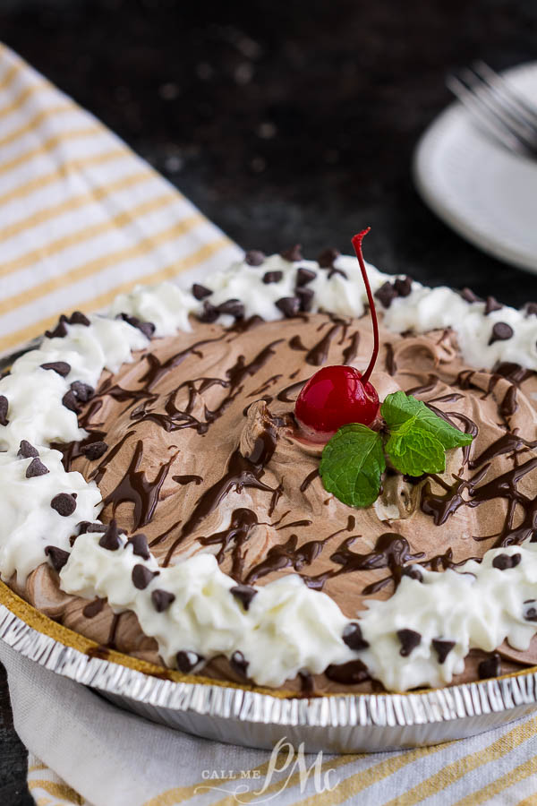 Ingredient Chocolate Mousse Pie is super easy to make and is always a crowd-pleaser. It's creamy, light, no-bake, and has no eggs, and no pudding.