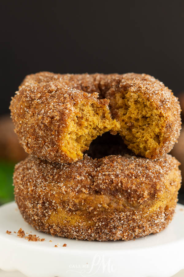Baked Pumpkin Donuts. The next time you have a craving for one of those sweet, round breakfast treats skip the oil and try baking them!