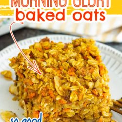 Pumpkin Morning Glory Baked Oats are delicious, nutritious, and seasonally festive. This hearty and satisfying recipe is one of my favorite breakfasts on cool fall mornings.