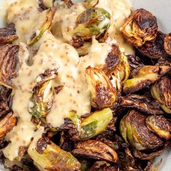 Caesar Roasted Brussels Sprouts Recipe, a new twist on an old favorite, tastes simply amazing! This side dish is simple, light, and spectacularly delicious.