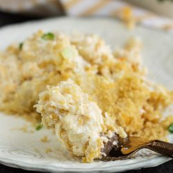 Cheesy Cauliflower Gratin - This cheesy comfort food recipe has cauliflower as the base instead of pasta or rice. It's a tasty way to add more vegetables to your diet.
