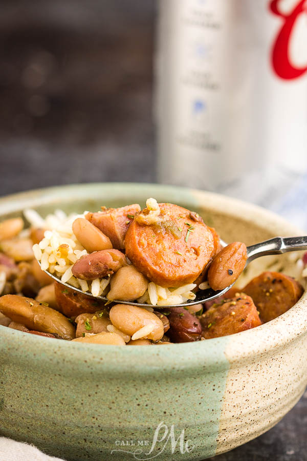 Creole 15 Bean Soup with Sausage and Ham is a spicy, comforting meal with perfectly Creole spiced beans simmered slowly in a pot with sausage and ham.