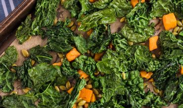 ROASTED KALE BUTTERNUT SQUASH AND PEPITAS