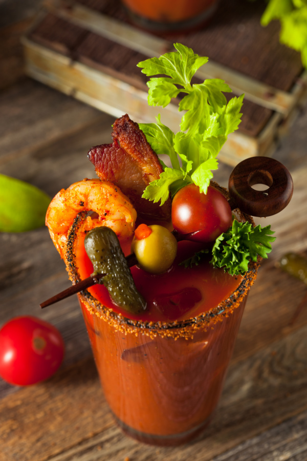 5 STAR BLOODY MARY RECIPE starts with low-sodium tomato juice followed by a flavor-packed blend of spices. This recipe isall about big, bold flavors and as many toppings as you can balance on top!